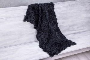 Меховое полотно козлик (черный)