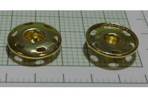 Кнопка металл 20 мм (пришивная. отполированный, золото)