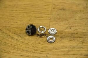 Кнопка металл 11 мм (отполированный, никель)