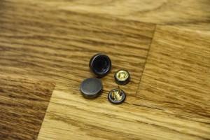 Кнопка металл 7 мм (матовый, темный никель)