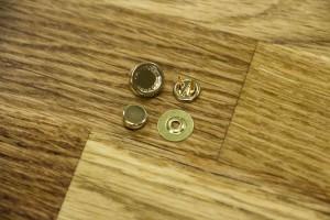 Кнопка металл 7 мм (отполированный, золото)