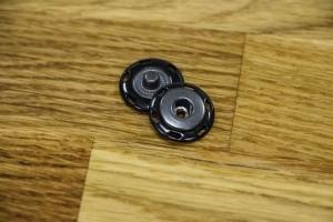 Кнопка металл 17 мм (пришивная. отполированный, черный)