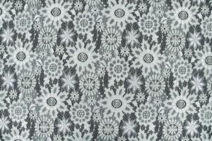 Ткань гипюр Италия (полиэстер 100%, бледный лиственный, цветы, шир. 1,40м)