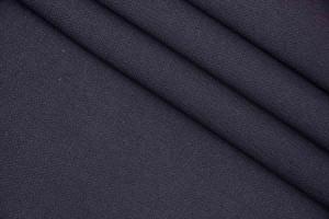 Ткань пальтовая Италия (двухсторонняя, плотная, коттон 100%, черный, шир. 1,40м)
