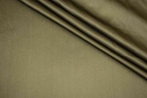 Ткань атласный шелк Италия (шелк 100%, хаки, шир. 1,40 м)