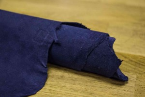 Кожа козлик Италия (темно-синий, велюр)