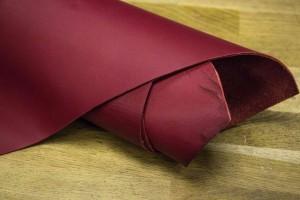 Кожа КРС Италия (буйвол) (вишневый, гладкий)