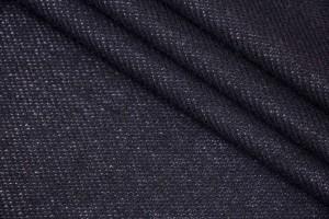 Ткань пальтовая Италия (шерсть 100%, черный, шир. 1,40 м)