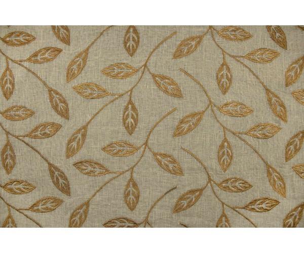 Ткань лен Италия (лен 100%, вышивка, песочный, шир. 1,35м)