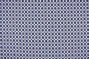 Ткань штапель Италия (вискоза 100%, бело-синий, узор, шир. 1,50 м)