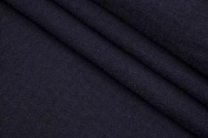 Ткань пальтовая Италия (двойная шерсть, шерсть альпака 97%, эластан 3%, черный,  шир. 1,33 м)