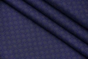 Ткань батист Италия (коттон 100%, темно-синий, горох, шир. 1,50 м)