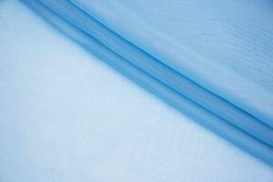 Ткань шифон Италия (шелк 100%, светло-голубой, шир. 1,50 м)