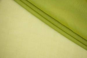 Ткань шифон Италия (шелк 100%, салатовый, шир. 1,40 м)