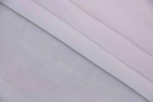 Ткань шифон Италия ( шелк 100%, молочный, шир. 1,40 м)