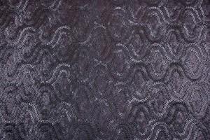 Ткань пайетки Италия (полиэстер 100%, основа-трикотаж, черный, вензель, шир. 1,40 м)