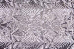 Ткань пайетки Италия (полиэстер 100%, основа-сетка,  серебро, шир. 1,50 м)