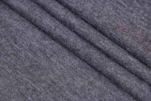 Ткань трикотаж Италия (шерсть 50%, вискоза 50%, серый, 1,80м)