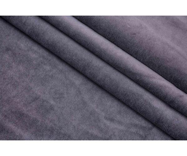 Ткань бархат Италия (коттон 100%, цена за отрез 1,20 м,  пепельно-серый, шир. 1,50 м)