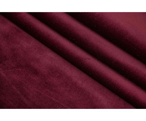 Ткань бархат Италия (коттон 95%, эластан 5%, цена за отрез 1,10м, бордовый, шир. 1,40 м)