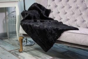 Меховое полотно бобер (черный)