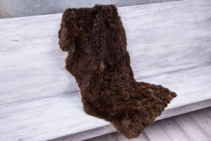 Меховое полотно альпака (коричневый)