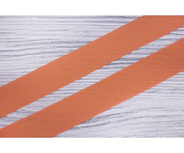 Косая бейка Италия (батист, коттон 100%, бледно-оранжевый, шир. 3 см)