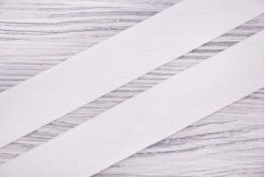 Косая бейка Италия (фактурная, полиэстер 100%, молочный, шир. 3 см)