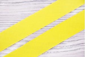 Косая бейка Италия (коттон 100%, желтый, шир. 2 см)