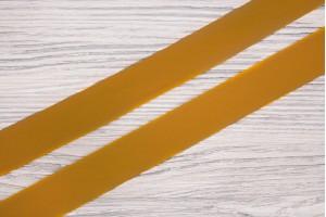 Косая бейка Италия (шелк 50%, полиэстер 50%, горчично-желтый, шир. 2,5 см)