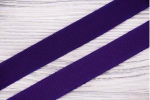 Косая бейка Италия (атласный шелк 100%, темно-фиолетовый, шир. 2 см)