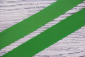 Косая бейка Италия (крепдешин, шелк 50%, полиэстер 50%, салатовый, шир. 2,5 см)