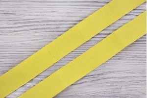 Репсовая лента Италия (коттон 60%, ацетат 40%, лимонно-желтый, шир. 2,5 см)