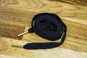 Шнурок (черный, коттон 100%, 140 см)