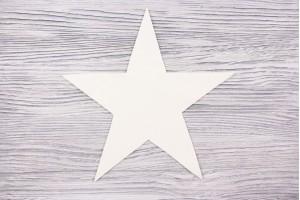 Аппликация звезда Италия (сукно, шерсть 100%, молочный)