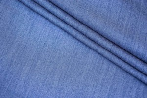 Ткань джинс Италия (тонкий, коттон 100%, небесно-голубой, шир. 1,60 м)