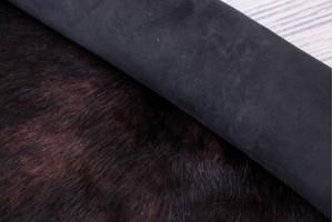 Дубленка козлик c замшевой основой (коричнево-черный, замша)