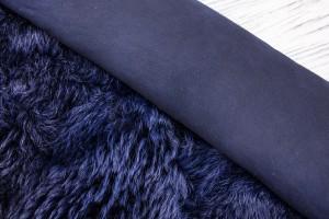 Дубленка овчина на замшевой основе (темно-синий, темно-синяя замша, тоскана)