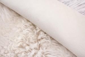 Дубленка овчина на замшевой основе (молочный, молочная замша, тоскана)