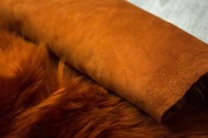 Дубленка козлик на замшевой основе (терракот, теракотовый замш, тоскана)