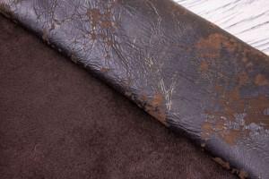 Дубленка овчина артхаус (коричневый, мех короткий, темно-коричневый)