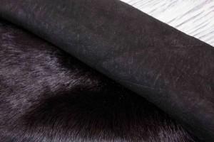 Дубленка козлик на замшевой основе (черный с бронзой, мех тоскана черный)