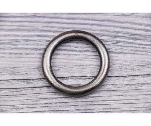 Кольцо металл, литое (никель, отполированный, состаренный)