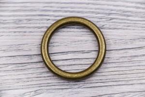 Кольцо металл, литое (отполированное, антик)