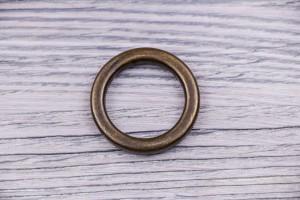 Кольцо металл, литое (состаренное, латунь)