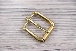 Пряжка металл (матовый, золото)