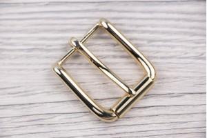 Пряжка металл (отполированный, золото)