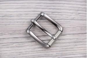 Пряжка металл (отполированный, темный никель)