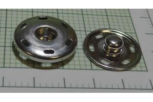Кнопка металл 25 мм (пришивная, матовый, никель)