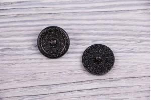 Пуговица Италия (на ножке, черный с золотым вкраплением, никель, 2 см)
